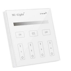 LED21 Nástěnný RF ovladač Mi-Light B1 pro jednobarevné LED pásky 4 okruhy, přisazený